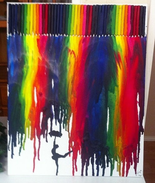 16 best melted crayon art images on pinterest melted for Melted crayon art techniques