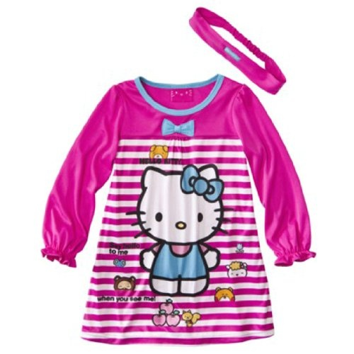 Hello Kitty Toddler Nightgown and Hair Band Set