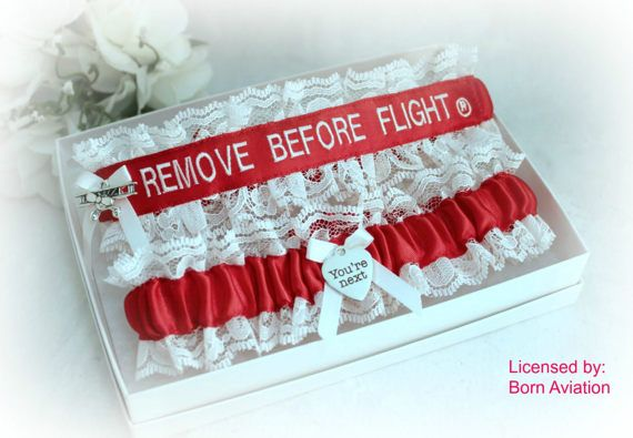 REMOVE BEFORE FLIGHT® Embroidered Wedding by CreativeGarters