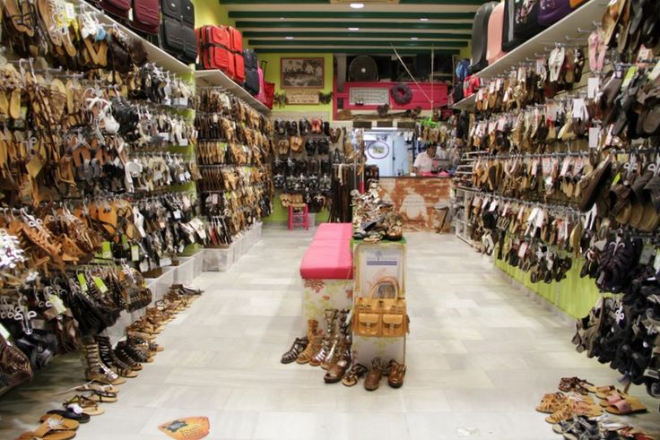 Greek handmade leather sandals and bags  Love this shop in Naxos.