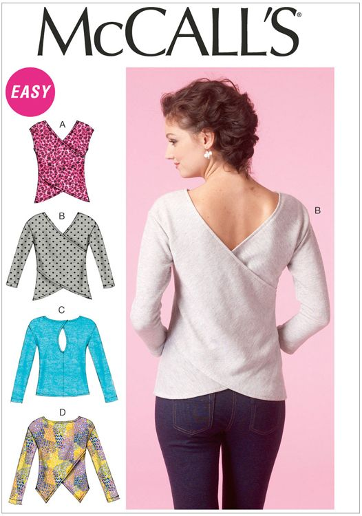 Misses Tops McCalls Sewing Pattern No. 7127.