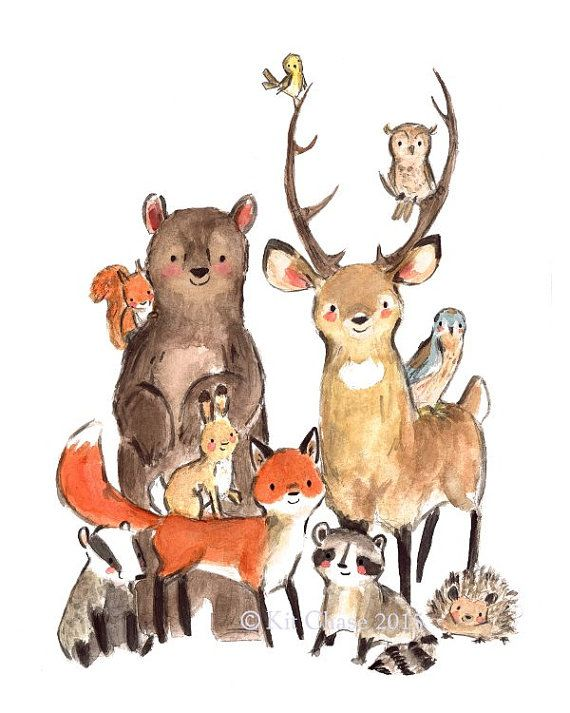 "Children's Art  -- ""WILD"" -- Archival Art Print"