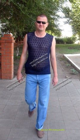 Crochet shirt for him ♥LCH♥ with diagram, basic repeated work.
