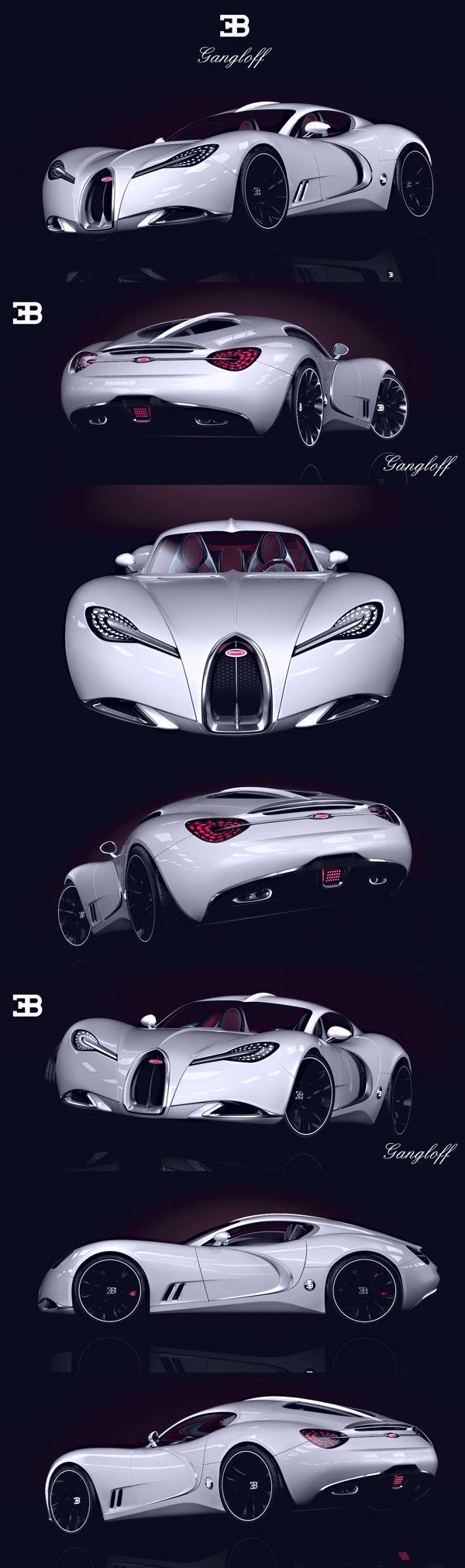 BUGATTI   GANGLOFF   CONCEPT CAR , INVISIUM by Paweł Czyżewski, via Behance