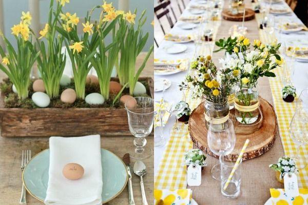 De tafel dekken voor Pasen