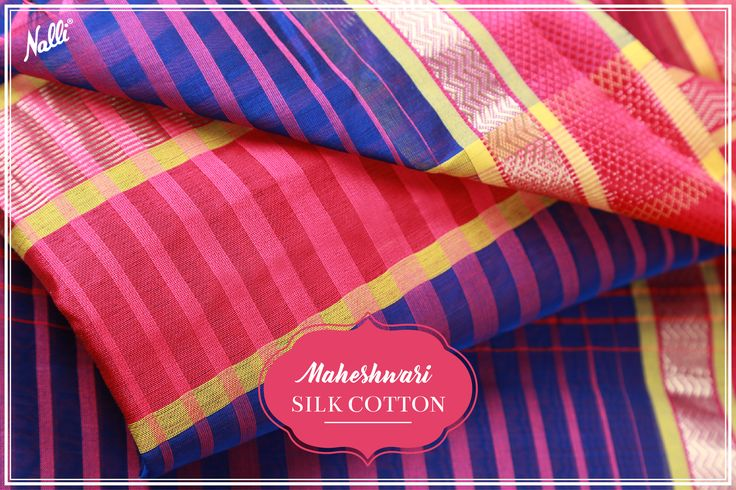 Look cool and stylish with this Maheshwari silk cotton sarees and breeze through the hot summer days! Priced INR 2,550/-, visit our website or DM us to buy it now. #Nalli #sarees #online #shopping #ethnic #wear #indian #handloom #fashion #maheshwari #silk #cotton #saree
