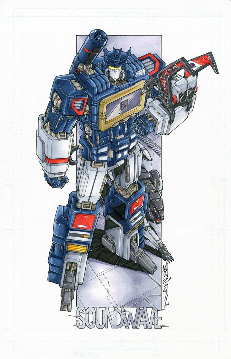 Soundwave commission colours by *markerguru on deviantART - Transformers - Soundwave, Lazerbeak, and Ravage