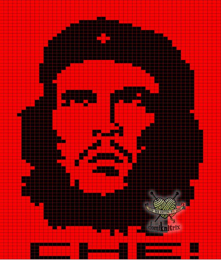 Free Che Guevara Knitting Chart