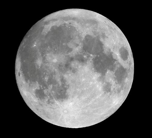 Super Moon in the Indian Sky - May 5, 2012 - Nikon P100