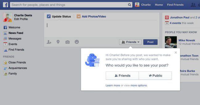 Facebook cambia configuración de privacidad en cuanto a publicación para nuevos usuarios y lanza nueva herramienta para verificar varios aspectos de la privacidad.