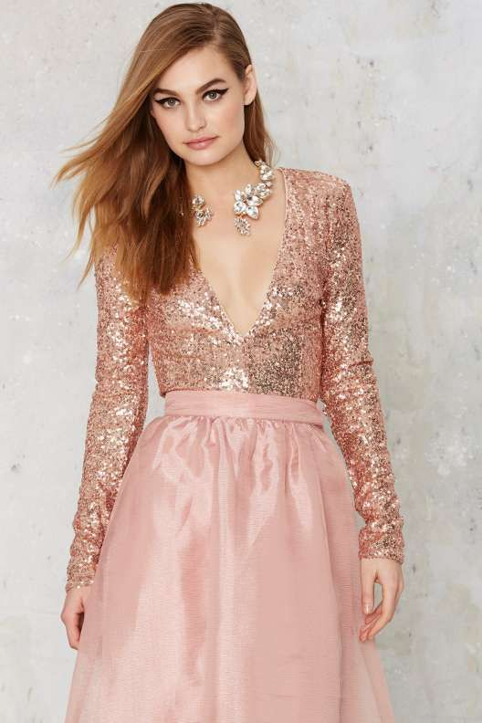 Find What You're Sequin Bodysuit
