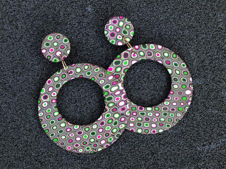 craftliners: Retro cirkel oorbellen