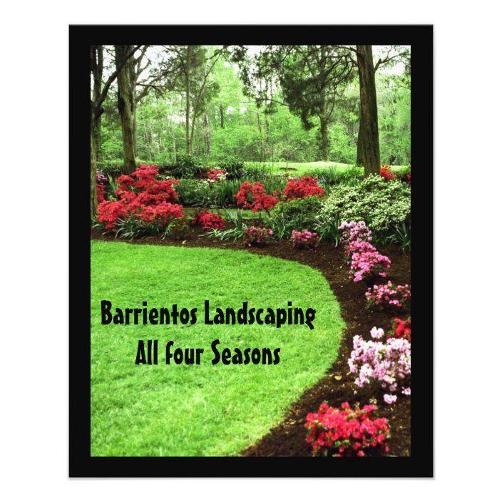 Small Plush Green Landscape Lawn Care Business Flyer Zazzle Com Lawn Care Business Lawn Care Flyers Lawn Care