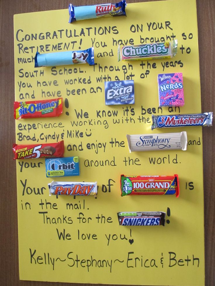 candy bar cards for father's day