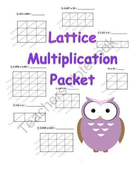 math worksheet : lattice multiplication worksheets free printable  worksheets : Free Lattice Multiplication Worksheets