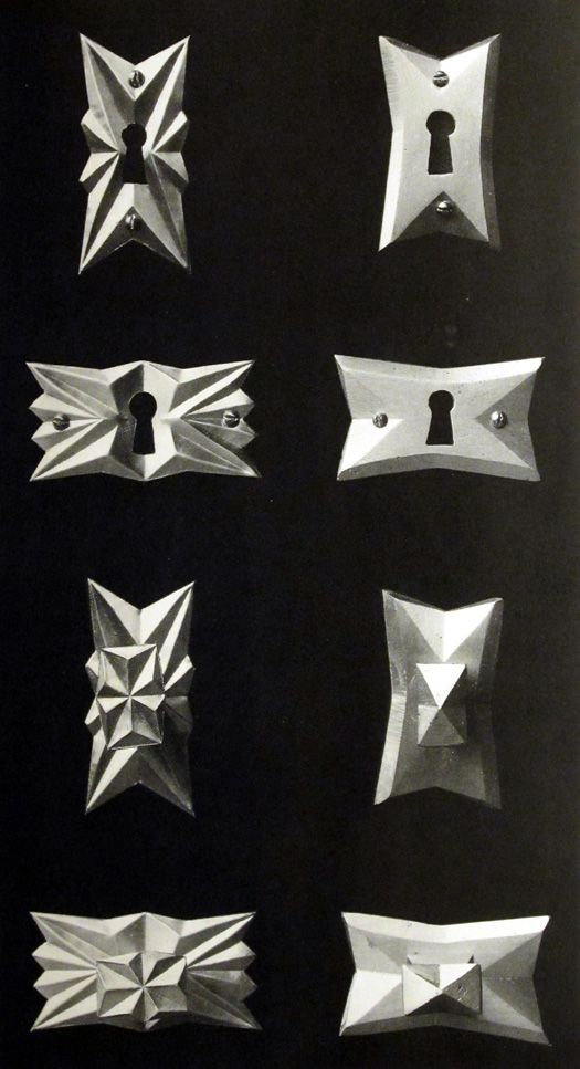 Furniture fittings by Pavel Janák, c. 1918.