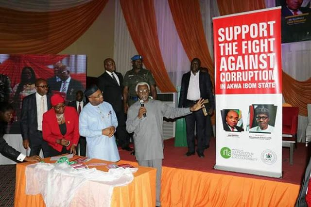 ICPC KICK STARTS ANTI - CORRUPTION CAMPAIGN IN A'IBOM   Akwa Ibom State has joined the league of anti - corruption crusade to promote good governance and accountability in the Nigerian polity.  The State Governor Mr Udom Emmanuel announced this at a Summit organised by Independent Corrupt Practices And OtherRelated Offences Commission (ICPC) in collaboration with Foundation For Transparency and Akwa Ibom State Government held at Le Meridien Ibom Hotels And Golf Resort Uyo .  Governor…