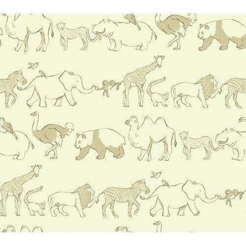 """Found it at AllModern - Waverly Kids Congo Line 27' x 27"""" Wildlife Wallpaper"""