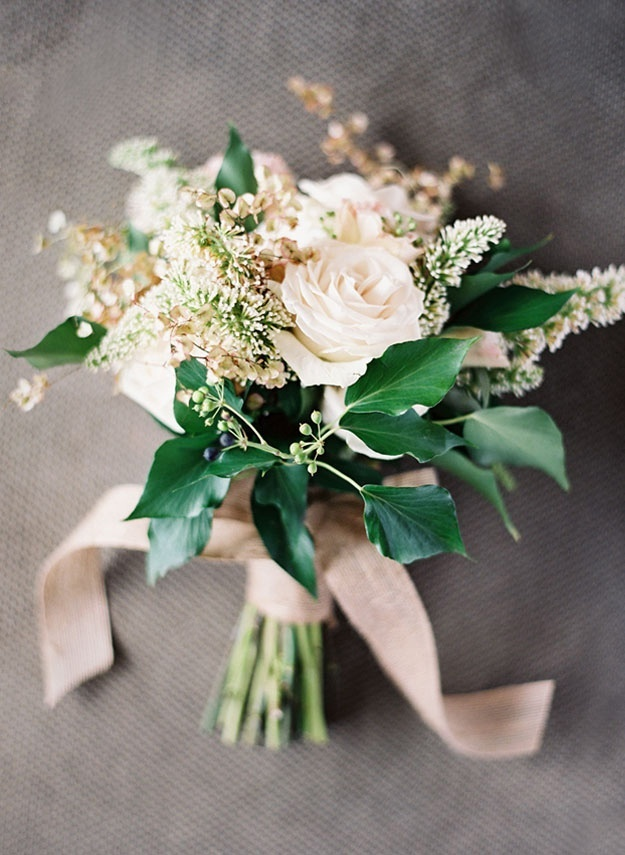 Like the idea of ribbon on the bouquet, probably in same colour as bridesmaid dresses!