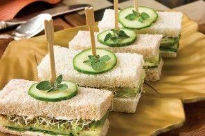 Christmas Tree Tea Sandwiches