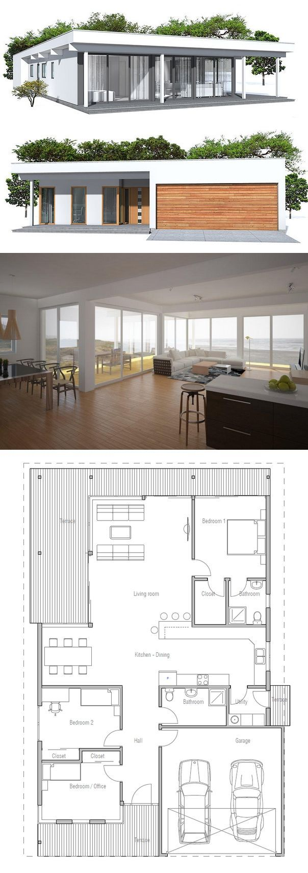 House Plan from www.concepthome.com  ~ Great pin! For Oahu architectural design visit http://ownerbuiltdesign.com