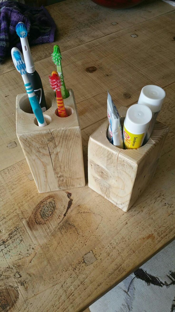 Easy peasy toothbrush and toothpaste holders