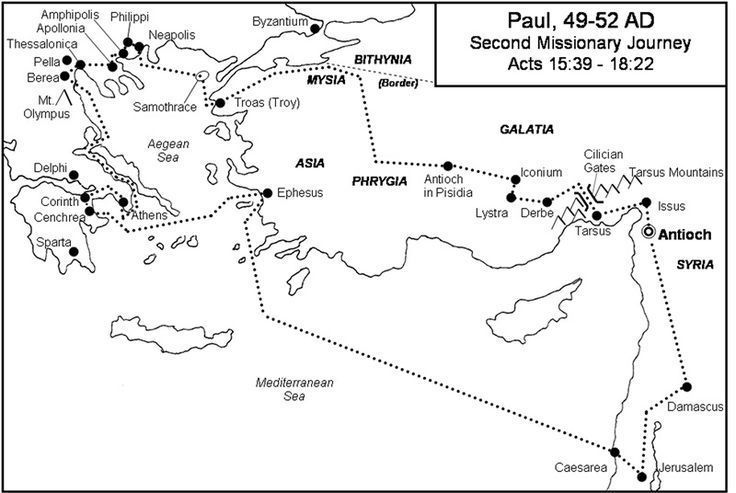 Missionary Map Project Paul S Second Missionary Journey Tiaras Tantrums Paul S Missionary Journeys Bible Mapping Map Projects