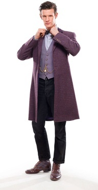 Time Lord has a new bow tie and purple suit for the upcoming series