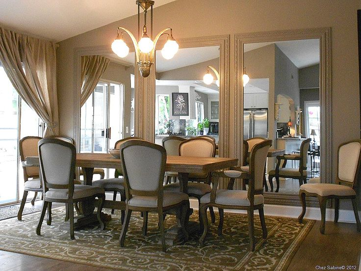 103 best dining room images on pinterest for Dining room mirror ideas