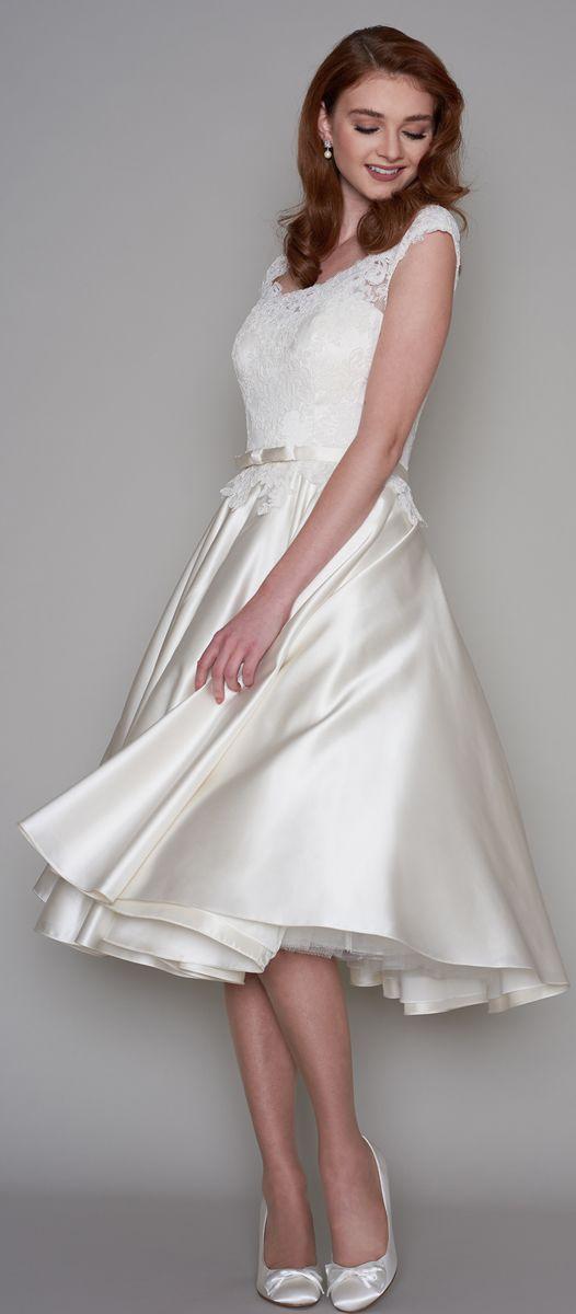 LouLou Bridal Tea Length Wedding Dress 2017 Divine Collection