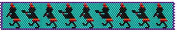 Easy, quick design,perfect for someone just starting to bead! Just 5 colors, customize it to make it your own! Easy to add a button or clasp closure, make it as long or short as you want. Can be worked in peyote (recommended) or brick stitch. The graph includes a full color graph with symbols, color list with color swatch, suggested Delica number and quantity of beads needed.