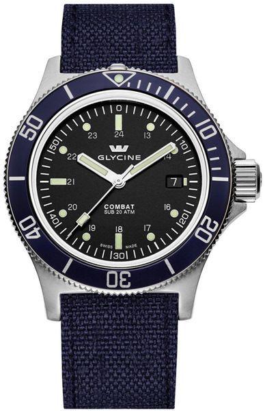 Zegarek męski Glycine Combat 386319BTBA8 - cena - 3486.00 zł