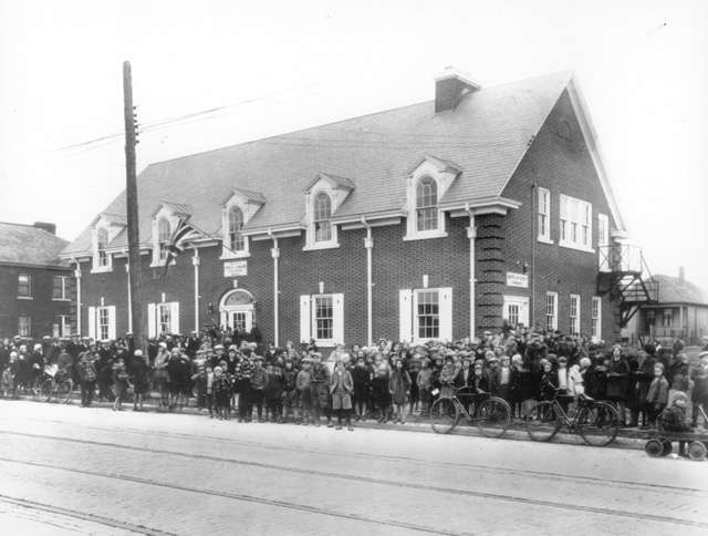 Official opening of Kenilworth Library  January 15, 1932