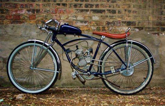 Motorized Bike - Eric's motorized bike is a cool creation that can be used anywhere and anytime. Eric used an old Schwinn Cruiser to built his motorized bicycl...