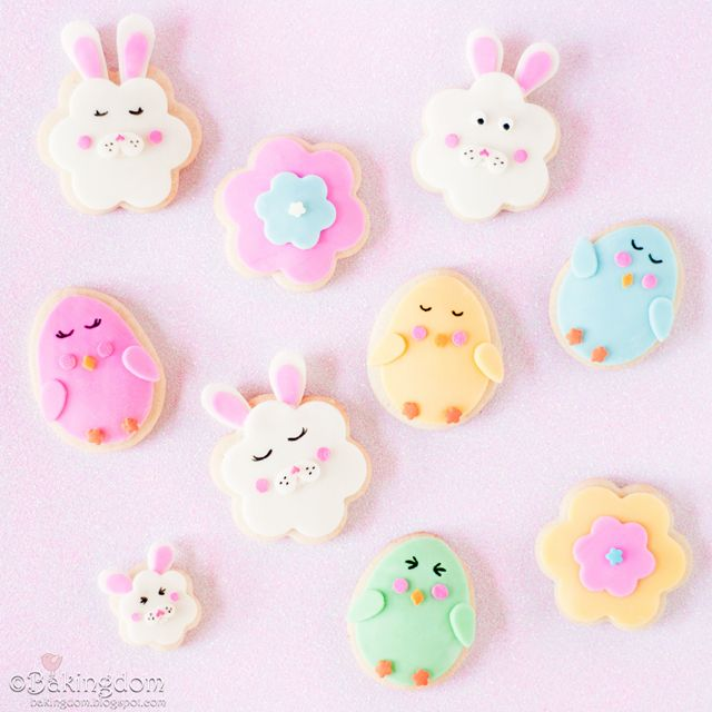 Easter Chick and Bunny Cookies