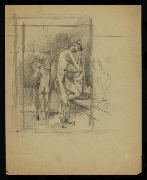 Keith Vaughan 'Drawing of two men washing',