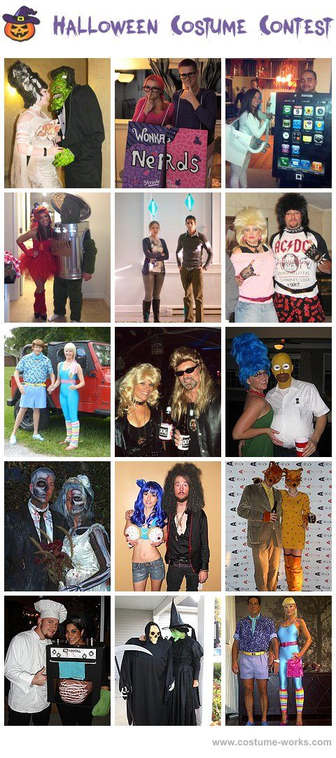 Homemade Costumes for Couples - this website has tons of DIY costume ideas!