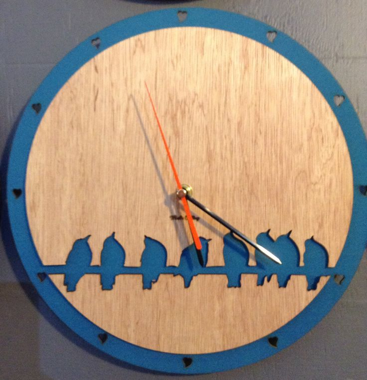 Whats Cutting Design Studio, Laser cut clock, Bird on a wire.