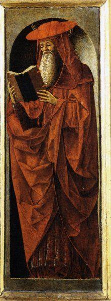 Ercole de' Roberti (Italian, c. 1451-1496) - Polittico dei Griffoni, detail - San Gerolamo