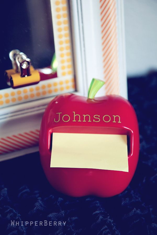 DIY apple post it note holder