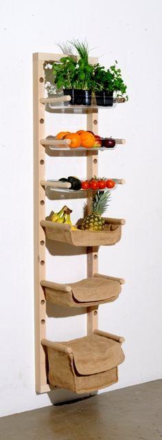 Resultado de imagem para diy fruit and vegetable storage