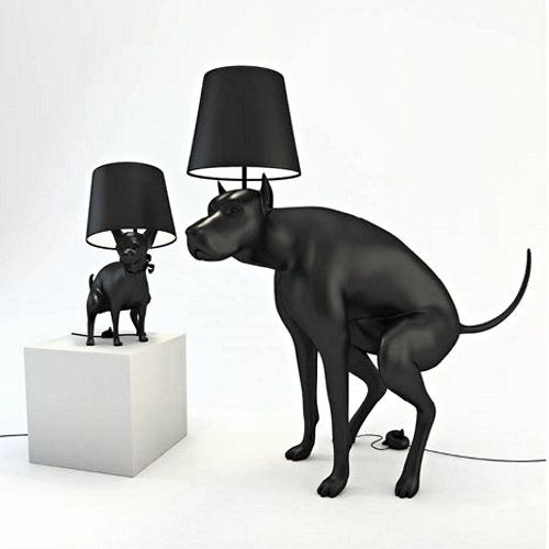 Good Boy, Good Puppy Lamps. A fun variation on the horse lamp of Moooi.