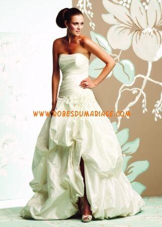 Paloma Blanca robe de mariage bustier 2012 ivoire drapé taffetas