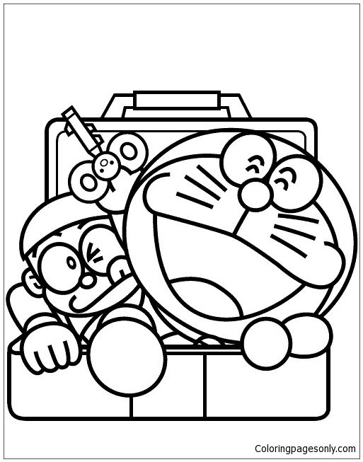8 best Doraemon Coloring Pages images on Pinterest Colouring in - best of mini ninja coloring pages