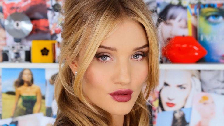 Get Ready with Rosie Huntington-Whiteley - Taupe Eyes, Berry Lips, + Bardot Hair | Lisa Eldridge