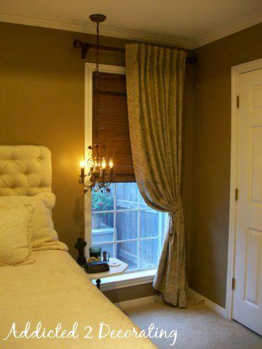 Gwenu0027s Bedroom:: Draperies (finally!) Corner Window CurtainsHang ...