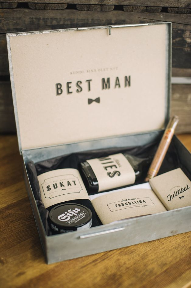 "DIY ""will you be my best man"" box with free printables 