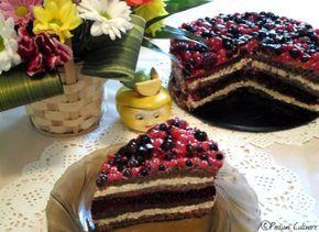 Tort cu mascarpone si fructe de padure | Pasiuni Culinare