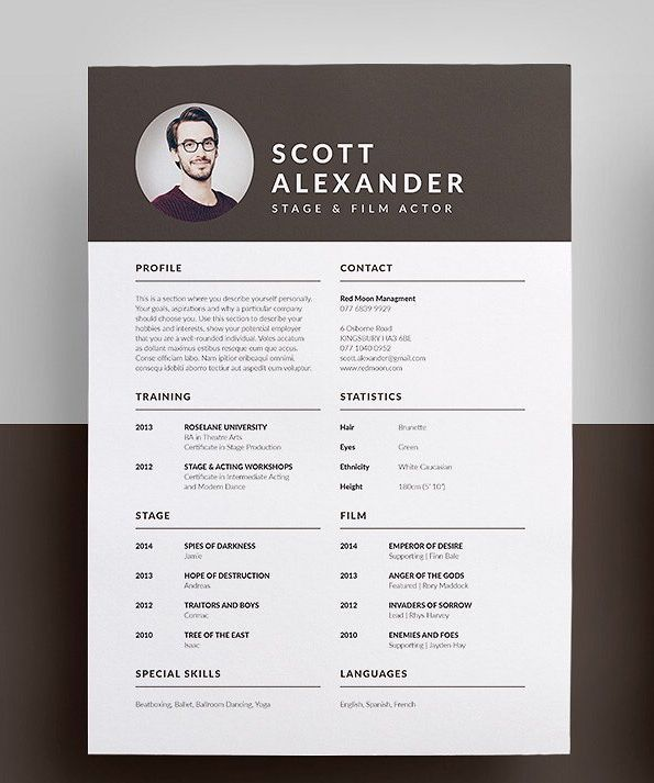 Professional Modern Resume Cv Cover Letter Template Word