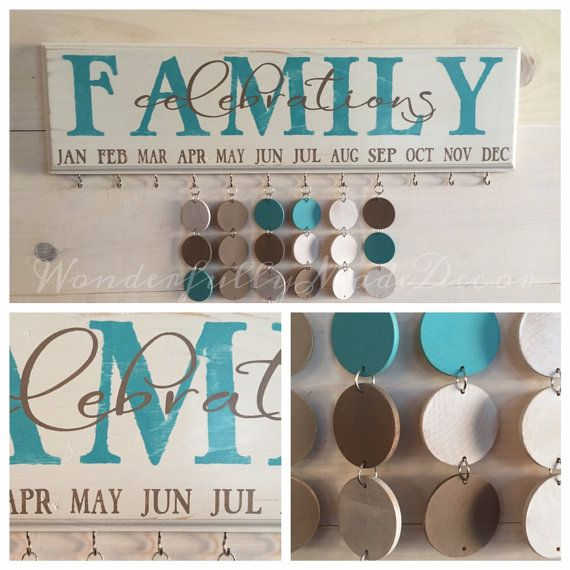 Family Birthday Board . Family Celebrations . Special Dates . Calendar . Sign . Family Birthday Wall Hanging
